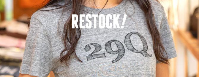 Tシャツ「29Q」再入荷&リニューアル!