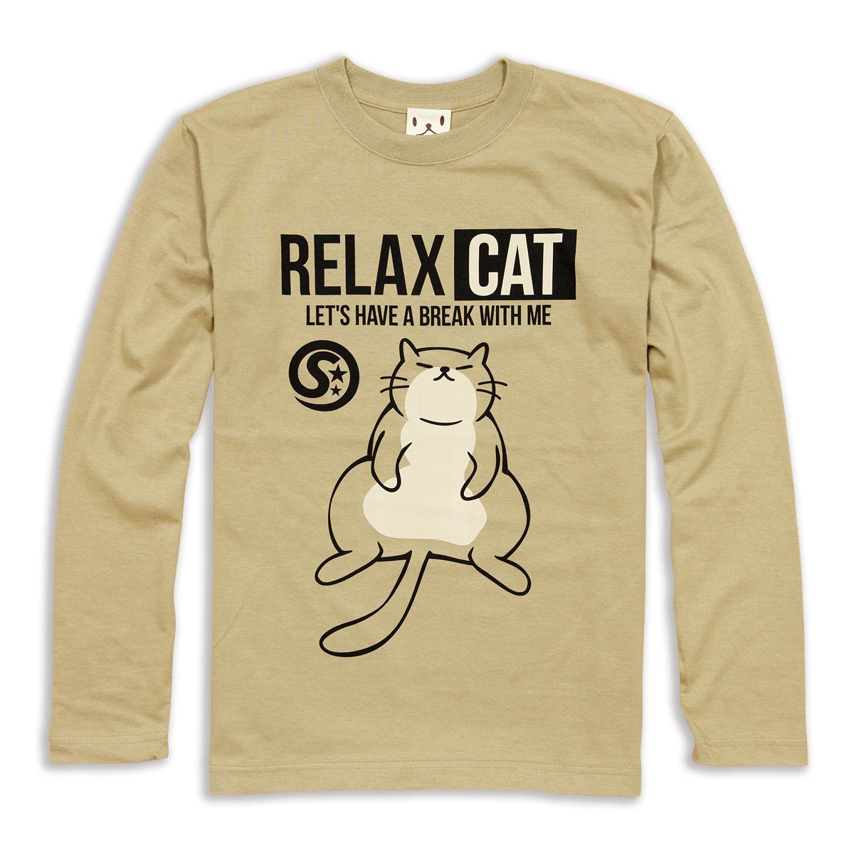 ロンT RELAX CAT サンドカーキ