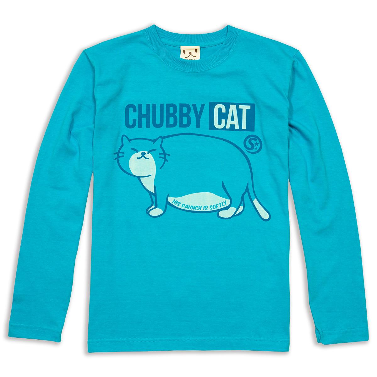 ロンT CHUBBU CAT ターコイズブルー