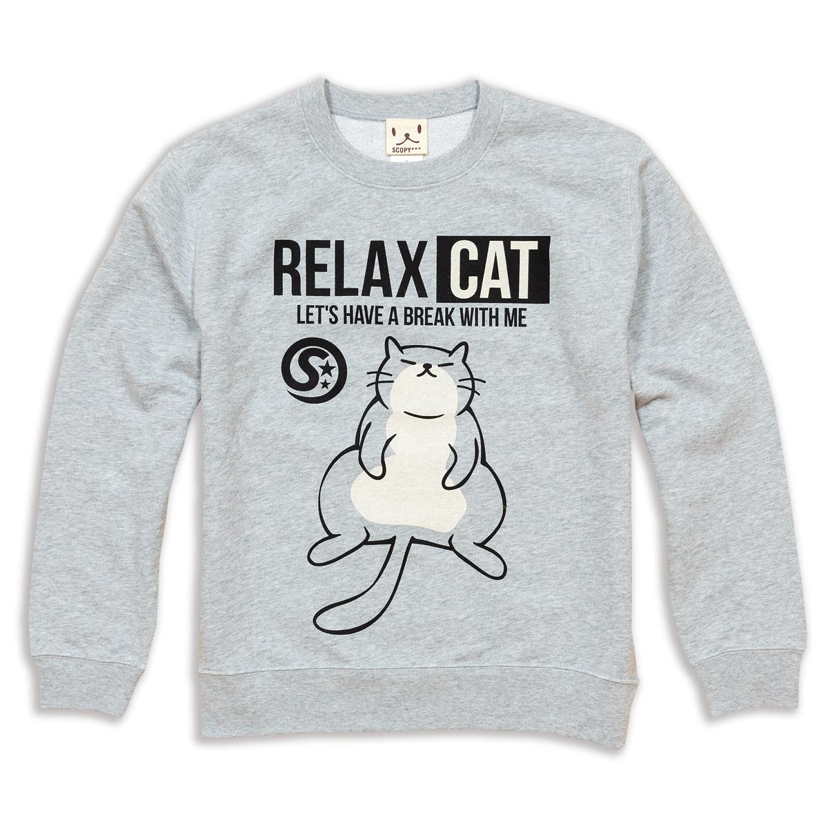 トレーナー RELAX CAT グレー