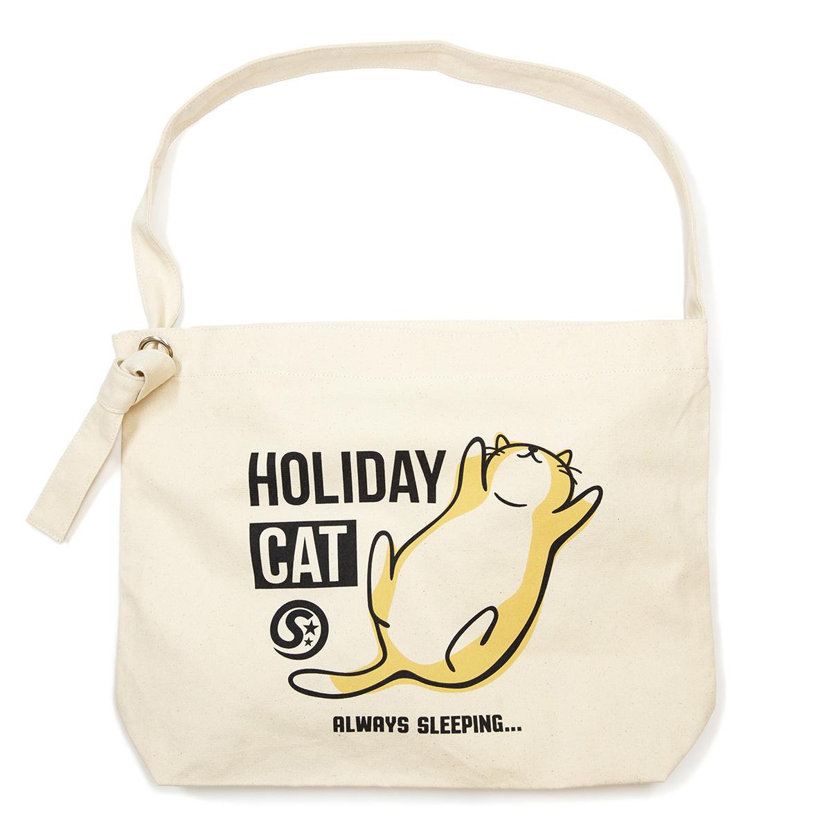 クラフトショルダーバッグ HOLIDAY CAT